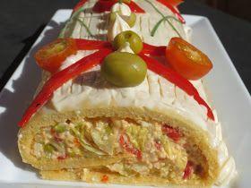 Brazo gitano salado frío con thermomix, tartas saladas con thermomix,