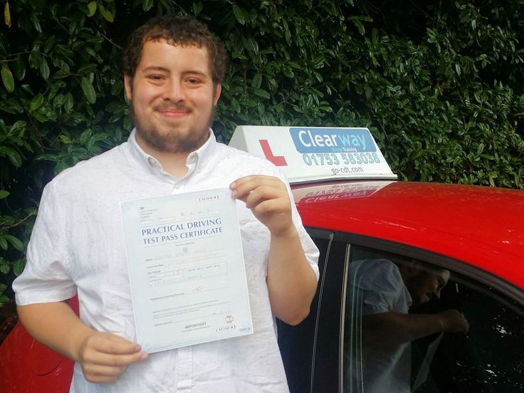 Chester L passed his test first time at  Chertsey test centre in August2017after taking a course of driving lessons with Clearway Driver Training driving instructor Paul Kirkpatrick