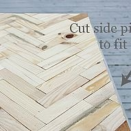 I adore this herringbone pattern table from Karianne at Thistlewood Fa… :: Hometalk