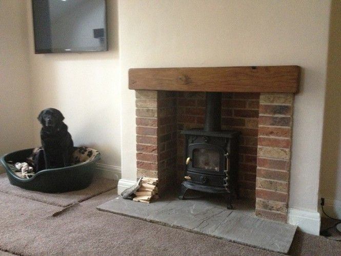 brick fireplaces wood burning stove - Google Search