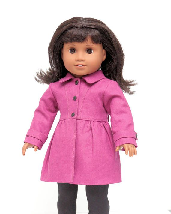 Put A Bow On ItPDF Pattern Instant Download PDF Pattern For 18 inch Dolls This fully lined modern femine coat features: Fitted Bodice Front Princess Seams Integrated Bow in Back Princess Seams Gathered Skirt Long Sleeves with Sleeve Band Make it your own with your choice of fabric