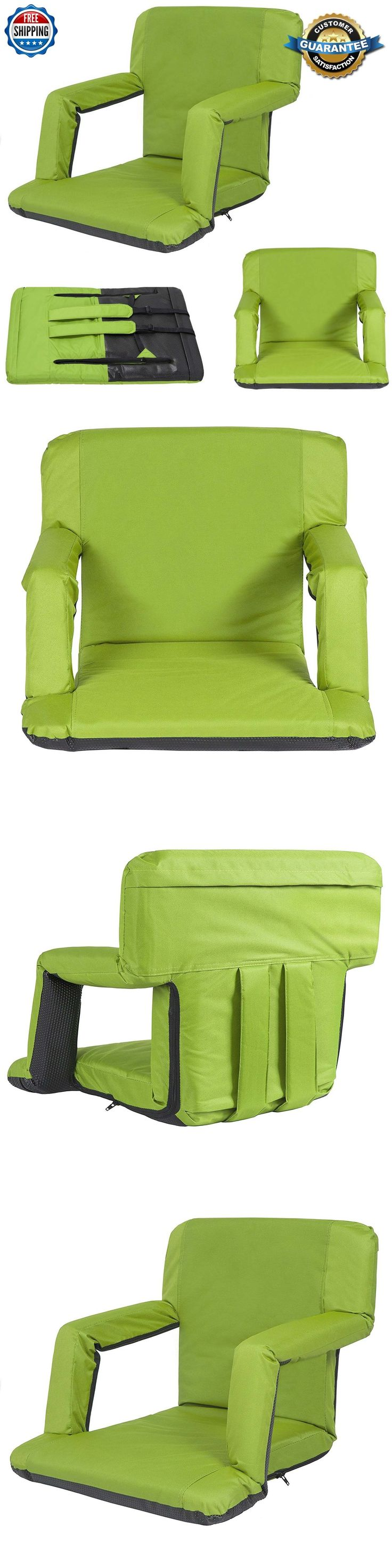 Other Outdoor Sports 159048: Padded Stadium Chair Reclining Seat Green Portable Bleacher Cushion Bench Camp -> BUY IT NOW ONLY: $292.32 on eBay!