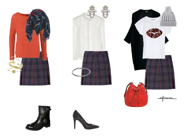 Er staan weer 3 outfits onder de €100,- online! Schotse ruit: naar je werk, chic etentje en middagje shoppen. Wat vind jij de leukste outfit? Shop ze op http://www.mooinietduur.nl/outfits