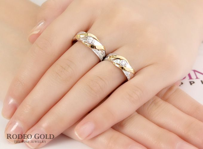 Gold engagement rings TCR77251
