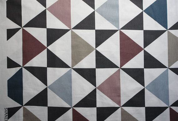 Baumwolle Leinen - Skandinavische Dreiecke von Skandinavische Stoffe auf DaWanda.com