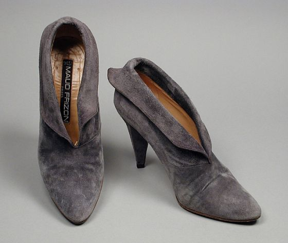1983. France - Pair of Woman's Ankle Boots by Maud Frizon - Suede, calfskin, leather
