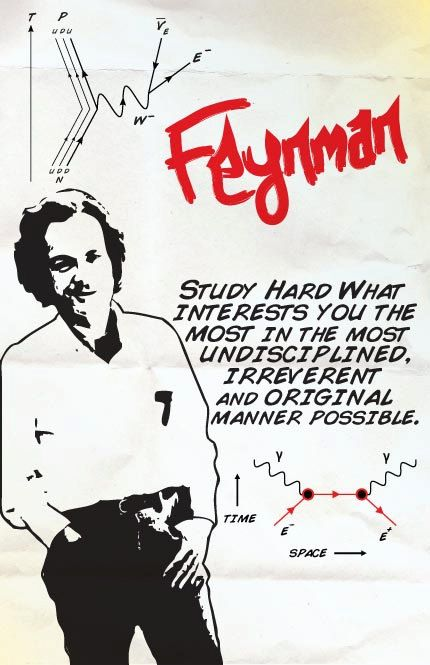 Richard Feynman Print 11x17 Famous Seniors by senioritis on Etsy