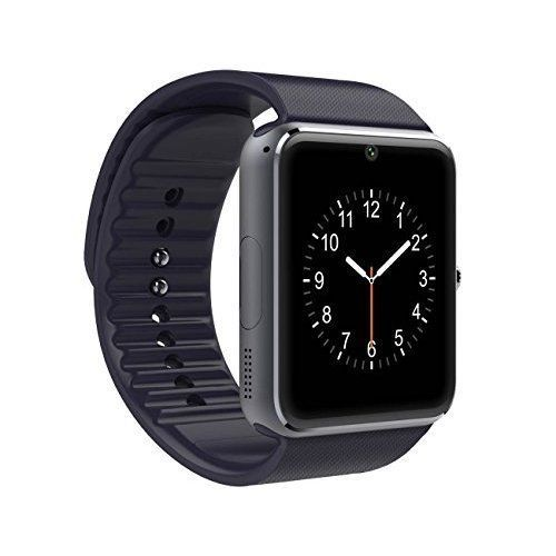 Smart Watch Cell Phone Touch Screen Smartphone Android iPhone SIM Camera Black #SmartphoneWatch