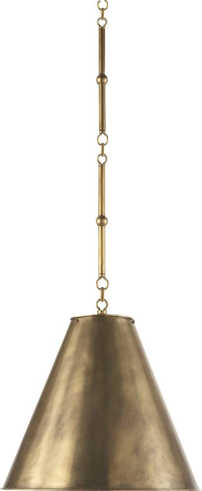$525 SMALL GOODMAN HANGING LAMP  item # TOB5090     designer Thomas O'Brien