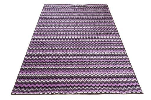 Dywany Zygzak 200x300 Zygzaki Fiolet Maroko 1 Wdzięczna