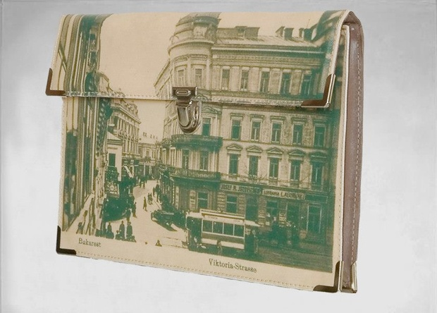 old bucharest postcard bag by 3127