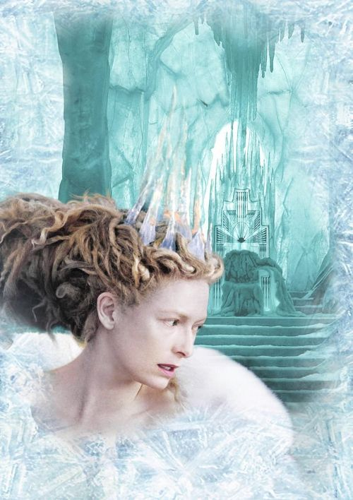 The Chronicles Of Narnia Ice Snow White Witch Jadis Poster with her Icy Palace Throne