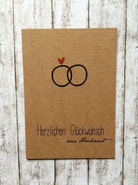 """Postkarte Glückwunsch zur Hochzeit """"Ring"""" von Kartenliebe Hamburg auf…"""