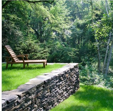 Retaining wall idea, would love grass to go up to edge like this!