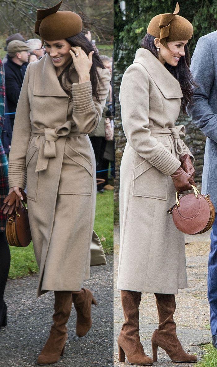 Meghan Markle wearing a Sentaler coat 5afb6bd789af