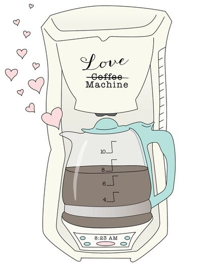 Coffee Love Machine Art Print