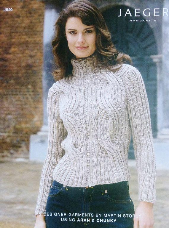 Martin Storey Knitting Patterns : Knitting Pattern Book JAEGER HANDKNITS Sweaters JB20 Martin Storey 12 Designe...