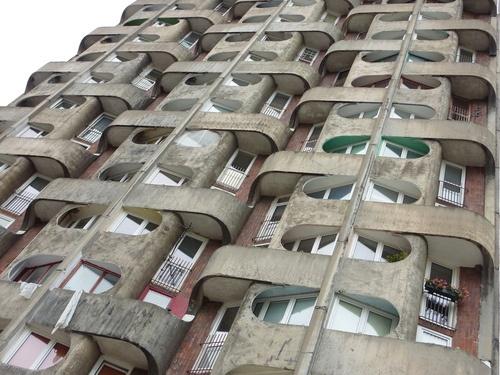 balconies : :  Wroclaw, Poland.