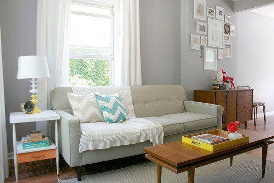 Paint Color Portfolio Pale Gray Living Rooms Apartment
