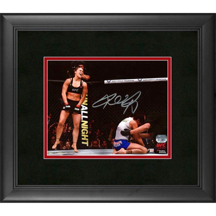 "Ronda Rousey Ultimate Fighting Championship Fanatics Authentic Framed Autographed 8"" x 10"" UFC 184 Over Cat Zingano Photograph - $119.99"