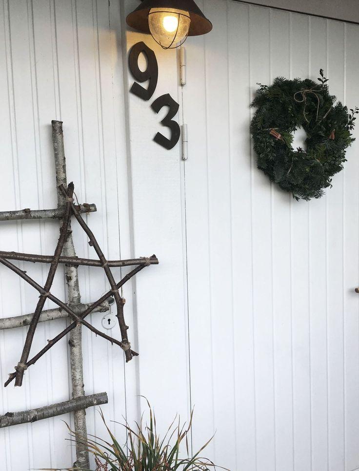Julkrans och julstjärna till dörren | homebysturgess Blogg