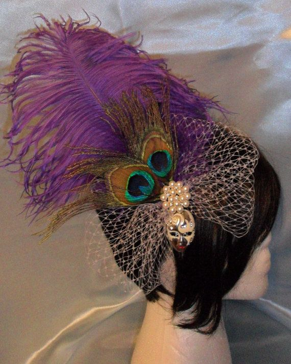 Orleana Mardi Gras Wedding Mardi Gras Hair Piece