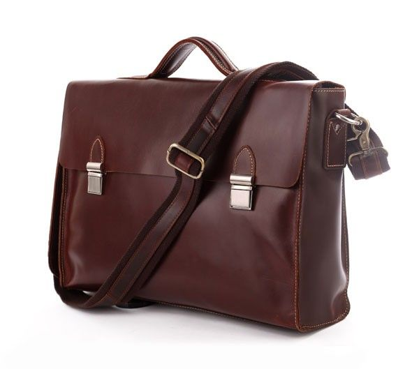 "Classic Leather Briefcase Laptop Red 15"" via Vintage Leather Bags. Click on the image to see more!"
