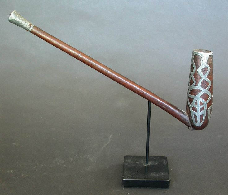 A Fine Antique 19th C Xhosa Pipe with LED Inlay with Eng Collection Provenance | eBay