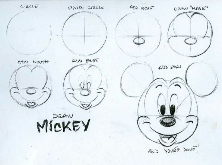 How To Draw Mickey Mouse Art Pinterest Drawings Mickey