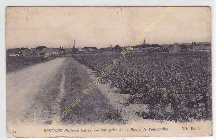 CPA 37140 RESTIGNé vue prise de la Route de Fougerolles Edit ND