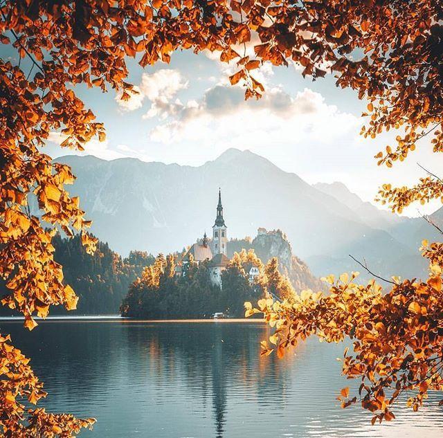 WEBSTA @ living_europe - Autumn portrait ~ Bled Lake, SloveniaPhoto: @merveceranphoto Congrats 👏 😊 #living_europe #bledlake #bled #slovenia #igslovenija #igslovenia #visitslovenia #ig_slovenia #slovenija  #nature_shooters #super_europe #traveladdict #loves_europe #naturelovers #landscapelovers #travelphotography #slovenka #exploring_shotz #postcardsfromtheworld  #amazingplaces