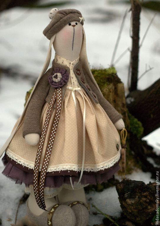"""Купить Текстильная зайка Chantal """"В поисках весны ...."""" 38 см - зайка тильда"""