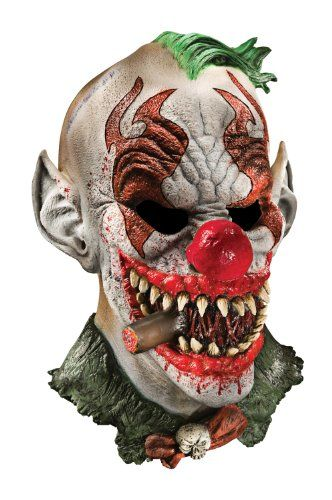 foam latex mask deluxe fonzo the clown adult halloween mask - Cool Masks For Halloween