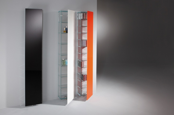 PILE - A multifunctional design rack which find its place at almost every wall due to its width of only 30 cm. For more information: http://www.dreieck-design.com/en/products/new-products-2011/pile/