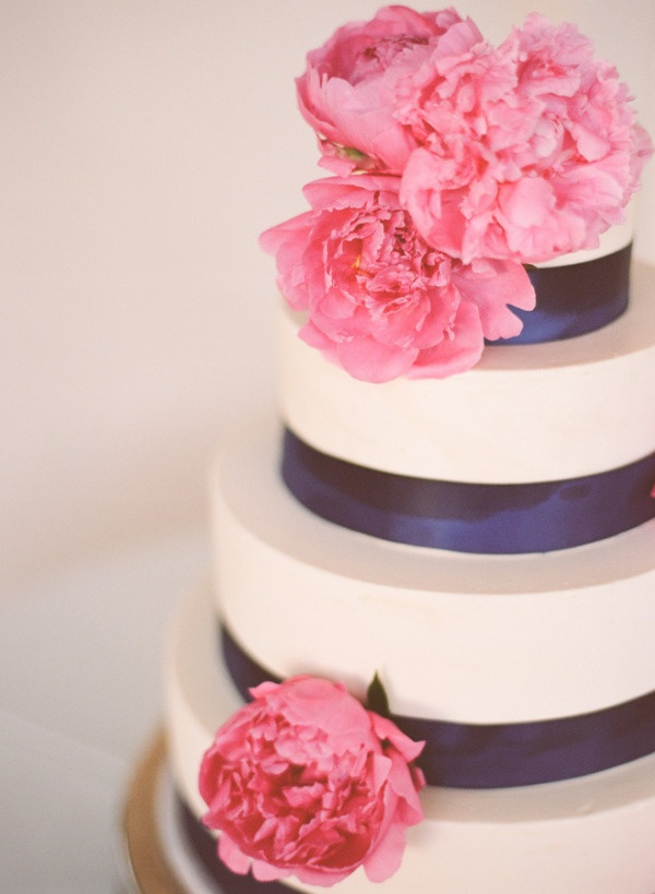 nothing makes us happier then a combo like yummy wedding cake and big, pink peonies  Photography By / rayaphotography.com, cake by http://www.sweetdreamscakery.com/