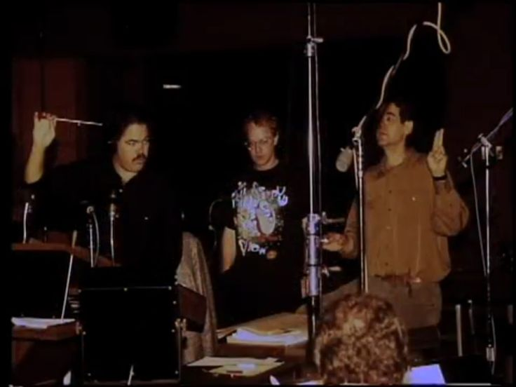 Danny Elfman and Steve Bartek - Nightmare Before Christmas score. I love Danny's Ren & Stimpy shirt!