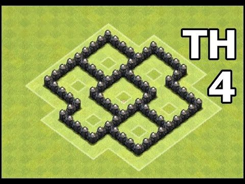 Town Hall 4 Farming Base Speed Build | Best Clash of Clans TH4 Base Defense - YouTube