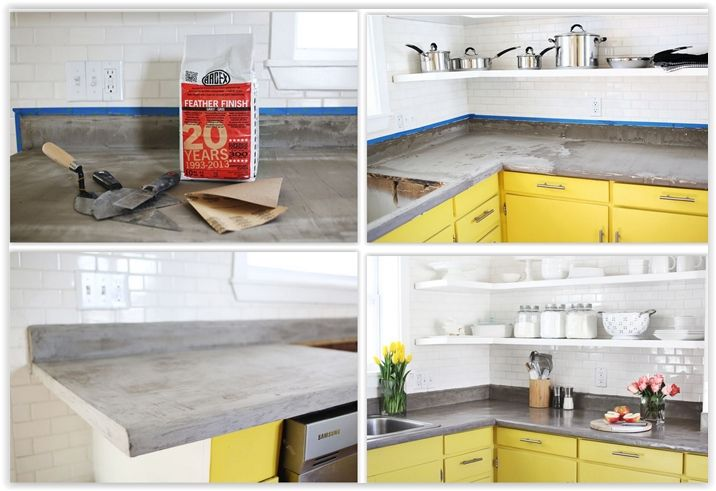 Concrete Countertop Diy Diy Countertops Concrete Countertops