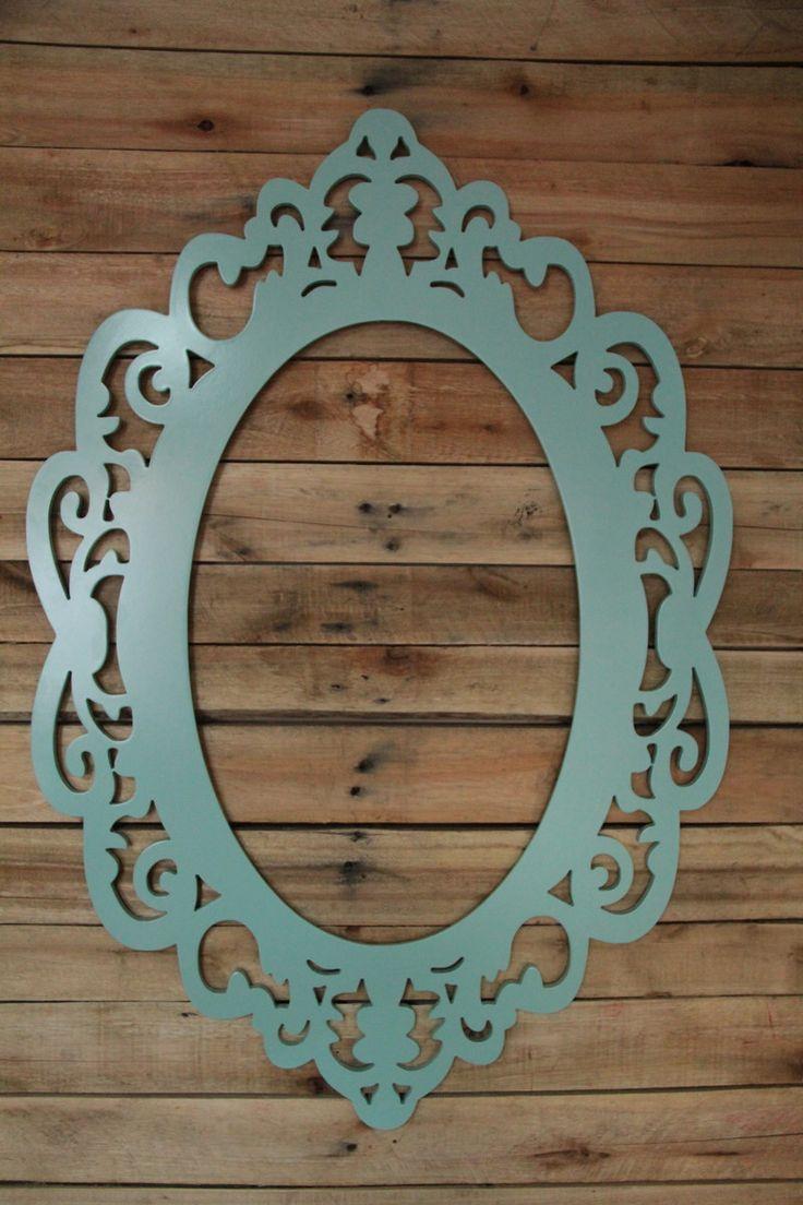 Moldura para espelho estilo provençal confeccionada em MDF 9mm com rebaixo para espelho, com ótimo acabamento. Os produtos Apreciart são de extrema qualidade e resistência. <br> <br>Especificação: <br>90x61 cm <br>MDF 9mm de espessura. <br> <br>Pintura: Laca Brilhante <br>Cor: Azul Tiffany