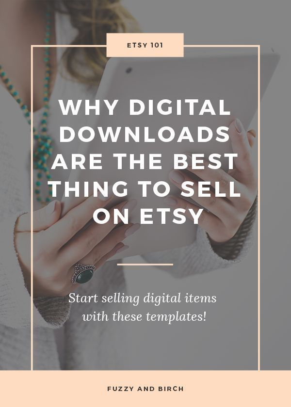 Ever thought about selling digital downloads on Etsy? Learn why these items are little profit nuggets...and get templates you can use to make your own!