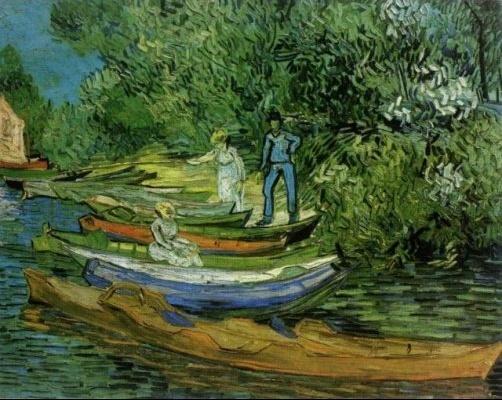 Van Gogh - Au bord de l'Oise à Auvers