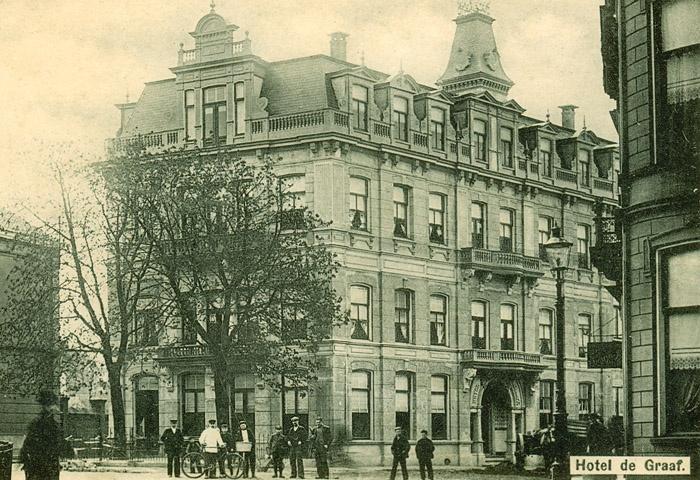 Enschede1910 -  Hotel de Graaf Korte Haaksbergerstraat.