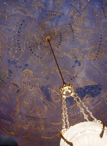 I dream of painting celestial constellations in a mural on the ceiling in a smaller room in my house in a similar fashion to this one...
