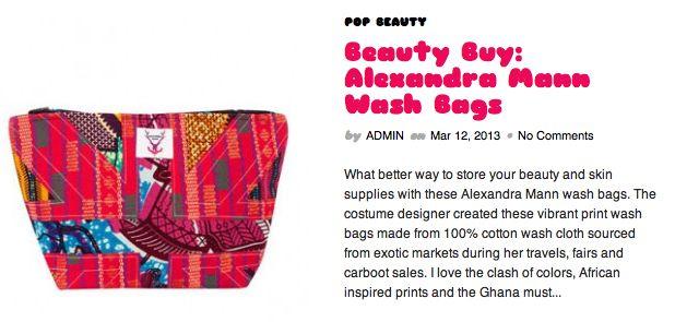 Feature on Pop Goes Fashion blog  http://popgoesfashion.com