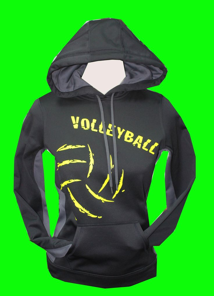 Volleyball Performance Hoodie (BLACK)