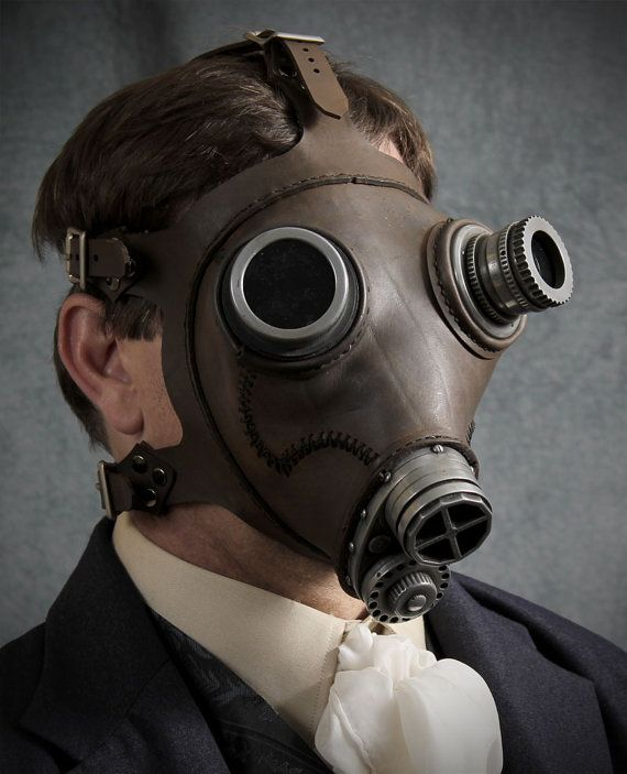 how to make a leather gas mask