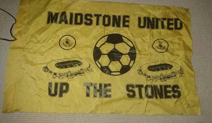 MAIDSTONE UNITED FOOTBALL CLUB VINTAGE WEMBLEY FLAG