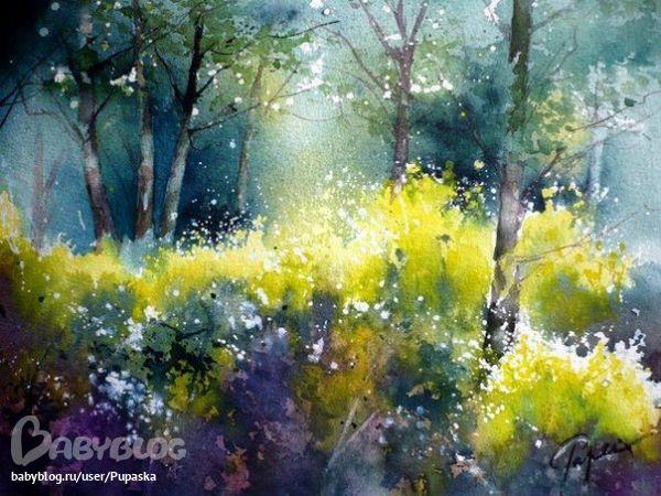 Plus de 1000 id es propos de acuarelas sur pinterest for Pinterest aquarell