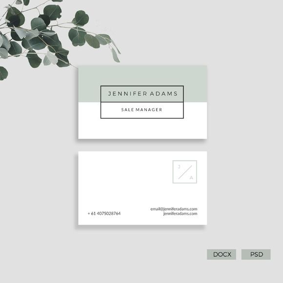 Modern Business Card  by Glowing Pieces on @creativemarket