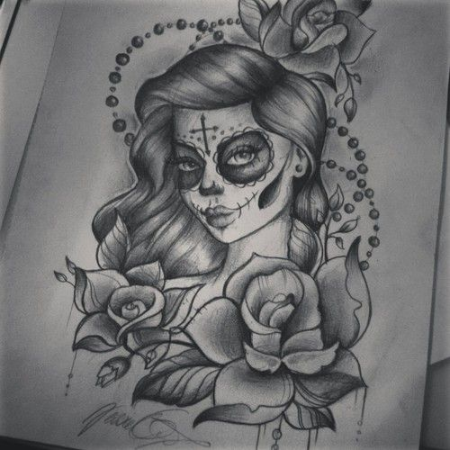 Santa muerte tattoo cerca con google inked till the - Santa muerte signification ...
